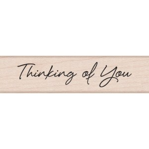 Hero Arts Mounted Rubber Stamps .5″X3″ – Little Greetings Thinking Of You