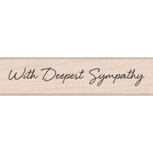 Hero Arts Mounted Rubber Stamps .5″X3″ – Little Greetings With Deepest Sympathy