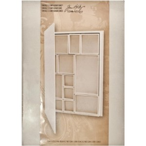 Idea-Ology Configurations Chipboard Shadow Box Book – 9″X12″, 12 Compartments
