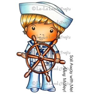 La-La Land Cling Mount Rubber Stamps Sailor Luka