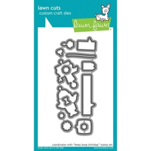 Lawn Cuts Custom Craft Die – Beep Boop Birthday