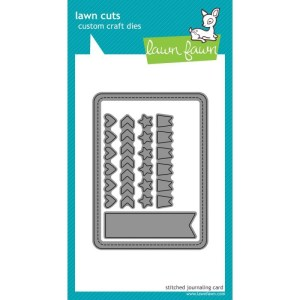 Lawn Cuts Custom Craft Die – Stitched Journaling Card