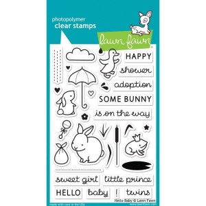 Lawn Fawn Clear Stamps 4″X6″ – Hello Baby