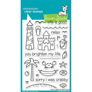 Lawn Fawn Clear Stamps 4″X6″ – Life Is Good