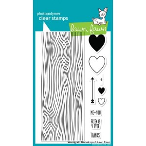 Lawn Fawn Clear Stamps 4″X6″ – Woodgrain Backdrops