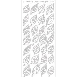 Leaves Small Peel-Off Stickers – Black
