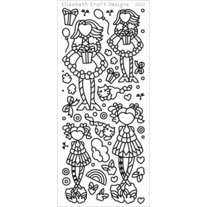Little Cuties 2 Peel-Off Stickers – Black