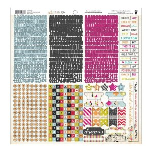 Me.ology Cardstock Stickers 12″X12″ – Fundamentals