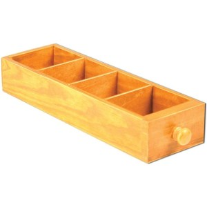 Mini Library Drawer 2″X3.5″X11.25″ – 4 Divided Areas