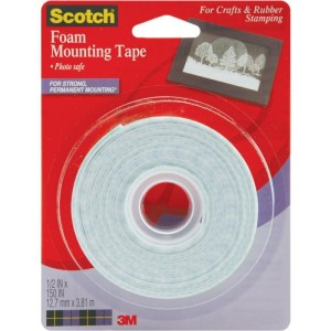 Scotch Foam Mounting Tape – .5″X150″