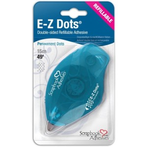 Scrapbook Adhesives E-Z Dots Refillable Dispenser – Permanent, 49′