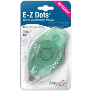 Scrapbook Adhesives E-Z Dots Refillable Dispenser – Repositionable, 49′
