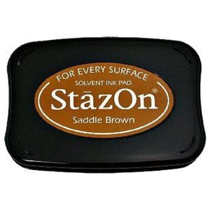 StazOn Solvent Ink Pad – Saddle Brown