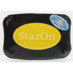 StazOn Solvent Ink Pad – Sunflower Yellow