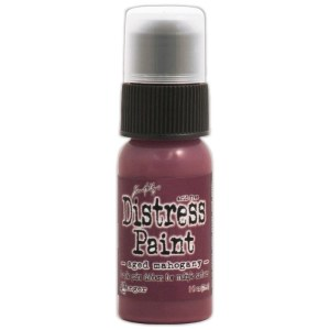 Tim Holtz Distress Paint 1oz Bottle – Aged Mahogany