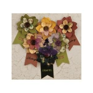 Time Traveler Flowers – Paper Hard Time 2.25″ W/Banner, 6/Pkg