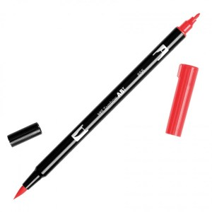 Tombow Dual Brush Marker – 856 Chinese Red