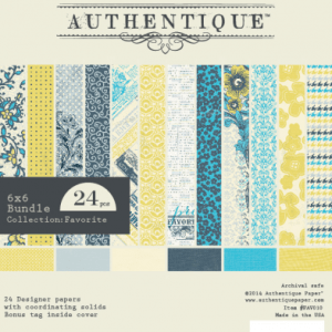 Authentique Paper Pad 6″X6″ 24/Pkg – Favorite