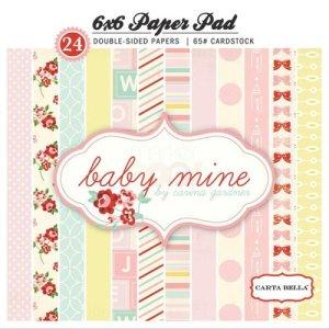 Carta Bella – 6 x 6 Paper Pad – Baby Mine Girl