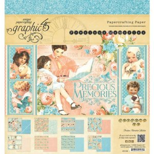 Graphic 45 – Precious Memories Collection – 8 x 8 Paper Pad