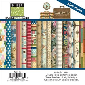 Bazzill World Wide Paper Multi-Pack, 6×6, 24-Pack