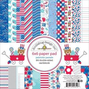 Doodlebug Design 6×6 Paper Pad, Patriotic Parade