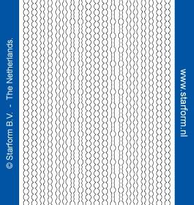 Starform Glitter Stickers 7010 – Black/Silver