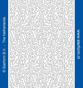 Starform Glitter Stickers 7045 – Orange/Silver
