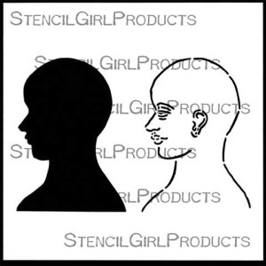 Stencil Girl Products – Face Map Side 6 Stencil 6×6