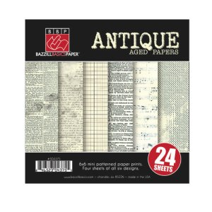 Bazzill 6×6 Paper Pack, Antique Aged