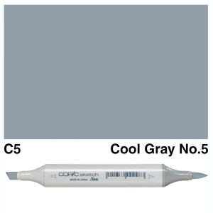 Copic Sketch C5-Cool Gray No.5