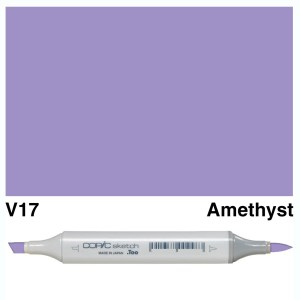Copic Marker Sketch V17 Amethyst