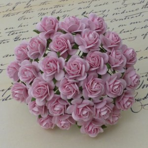 Wild Orchid Crafts Baby Pink Mulberry Paper Open Roses