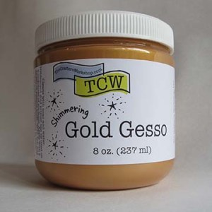 The Crafter's Workshop Gold Gesso 8 oz.