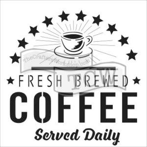 The Crafter's Workshop 6×6 Stencil Fresh Coffee