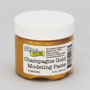 The Crafter's Workshop Champagne Gold Modeling Paste 2 Oz