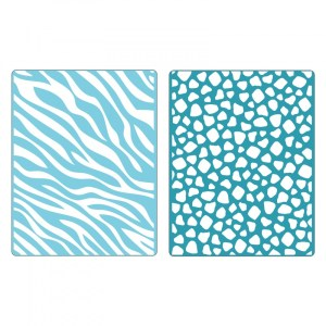 Sizzix Textured Impressions Embossing Folders 2PK – Animal Print Set #2