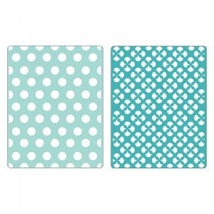 Sizzix Textured Impressions Embossing Folders 2PK – Polka Dots & Starflowers Set