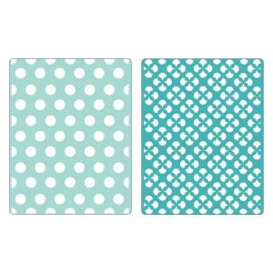 Sizzix Textured Impressions Embossing Folders 2PK – Polka Dots & Starflowers Set