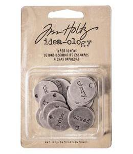 Tim Holtz Idea-ology Findings – Typed Tokens