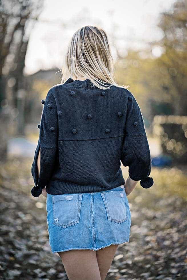 maglia maglione donna-mezza-manica-nero pura lana alpaca-mezza stagione