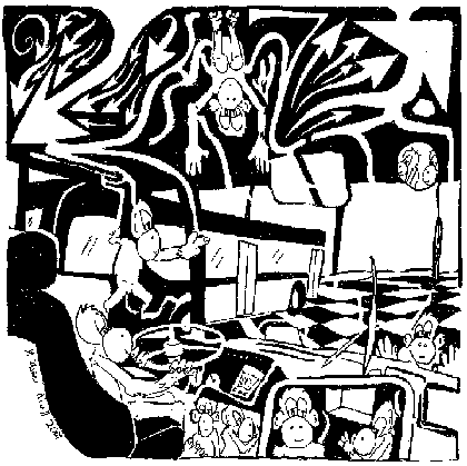 maze of monkeys driving a bus