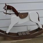 Large Merrilegs Wooden Rocking Horse Inked Woodworking