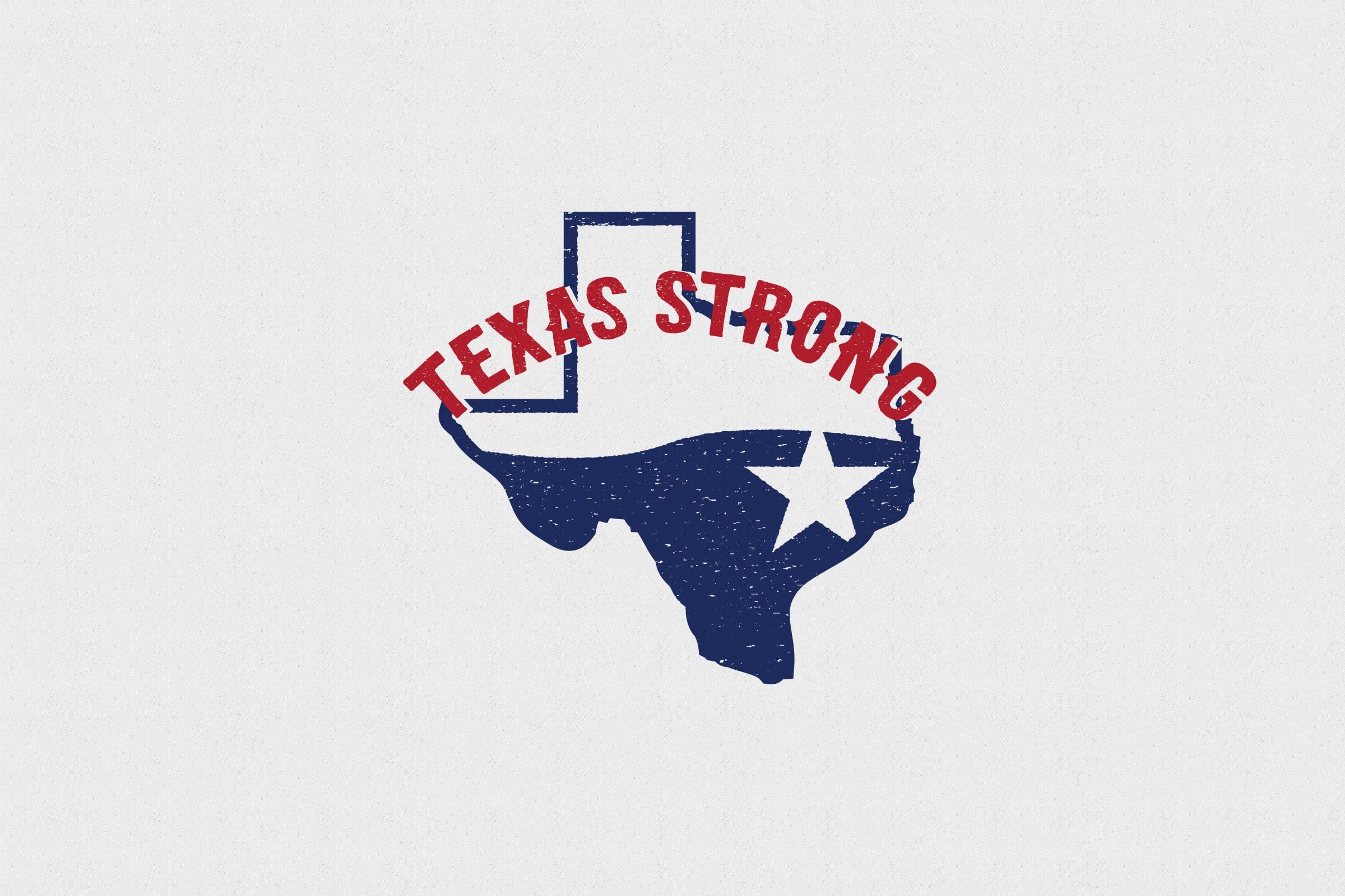 Texas Strong Logo San Antonio Design