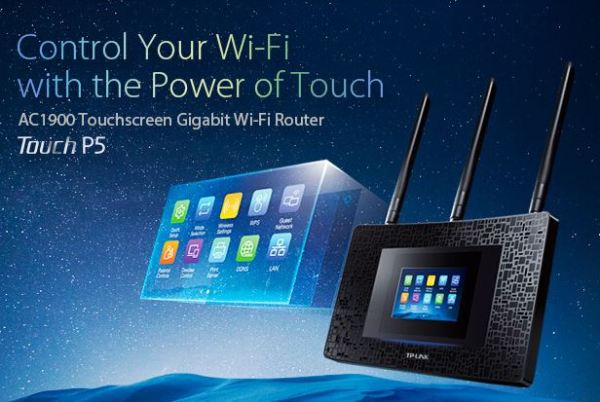Touchscreen Wireless Router