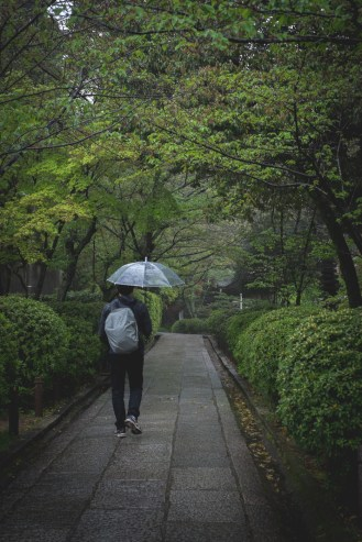 Japan rainy walk