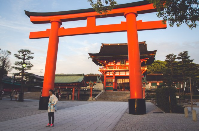Fushimi Inari-taisha japan night kyoto