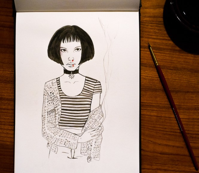 inktober Leon Mathilda fan art