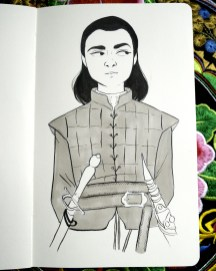 Game of Thrones - Inktober - Arya Stark