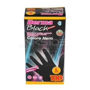 Guanti DERMA BLACK in Lattice senza polvere